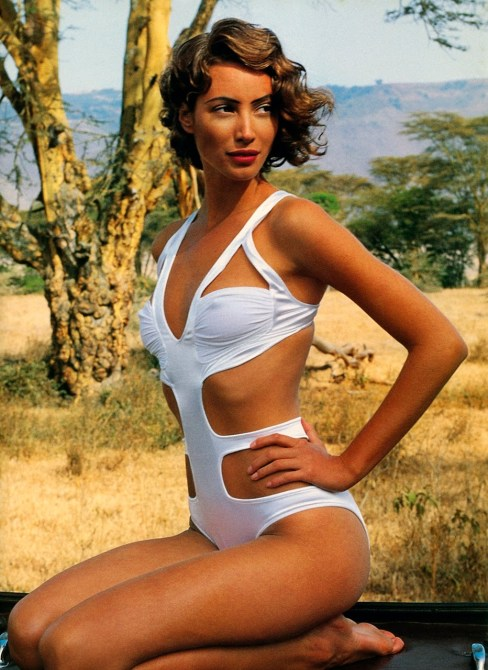 Christy Turlington, Vogue January 1992, Arthur Elgort, Africa
