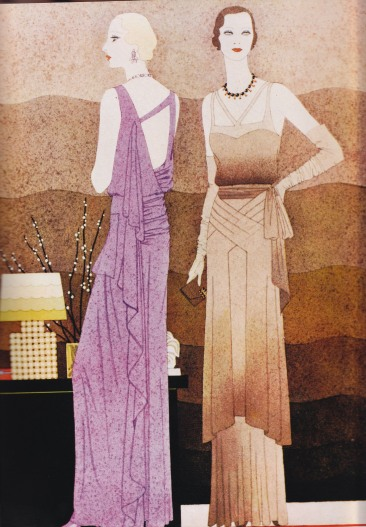 1930 Fashion Illustration, Kenneth Crouch, Harpers Bazaar
