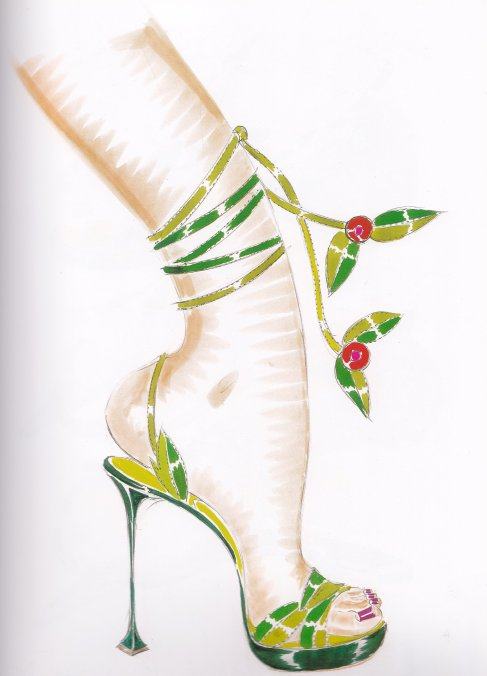 Manolo Blahnik, shoe designs