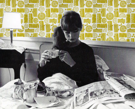 Jean Shrimpton, Logpile wallpaper, Roddy & Ginger