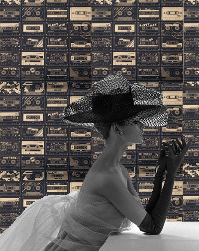 Jean Shrimpton, Cassette Wallpaper, Bodie & Fou