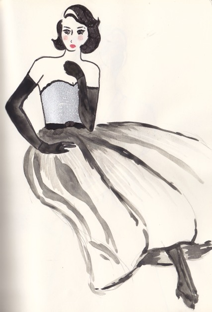 One Vintage Outfit, Carolyn Everitt, Fashion Illustration