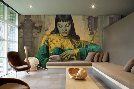 Lady of the Orient Mural, Tretchikoff, Surface View