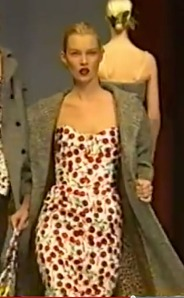 Dolce & Gabbana, Fall 1996, Cherry Dress, Kate Moss