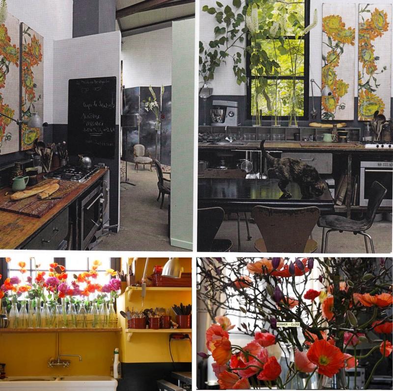 Clare Basler, Flower Portraits, Paris Workshop, kitchen