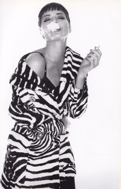Isabella Rossellini, Dolce & Gabbana, Michael Comte, Zebra Coat