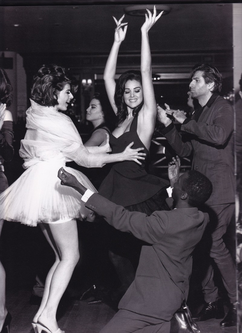 Isabella Rossellini dancing with Monica Bellucci, Dolce & Gabbana, Stephen Meisel