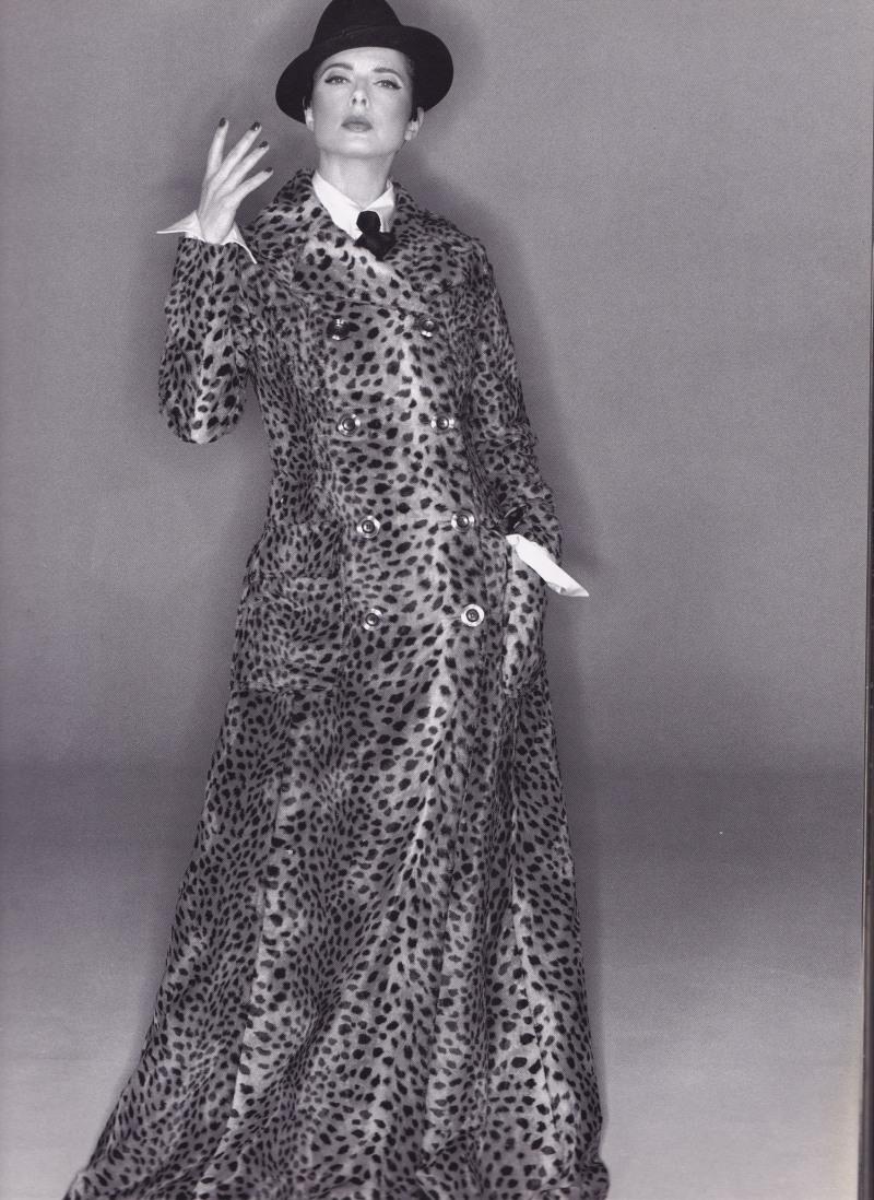Isabella Rossellini, Dolce & Gabbana, Leopard Print Coat, Michael Comte