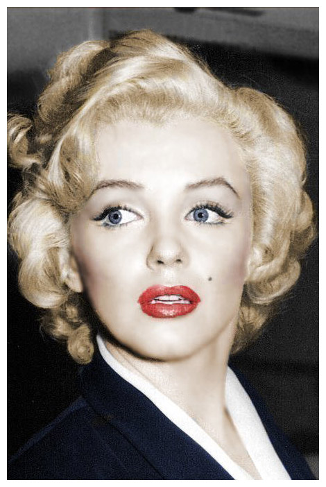 Marilyn Monroe, makeup, eyelashes and liner