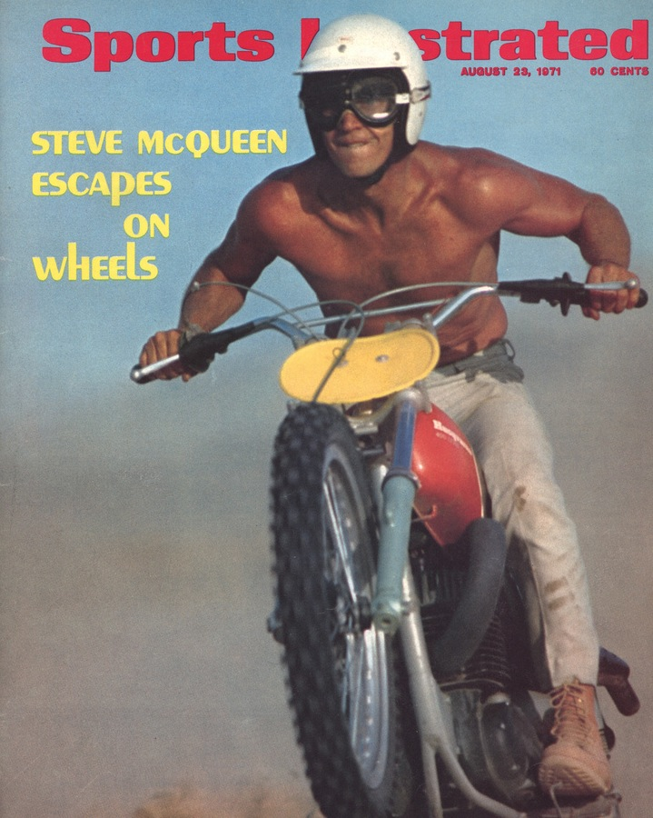 Steve McQueen, racing bike, Sports Illustrated