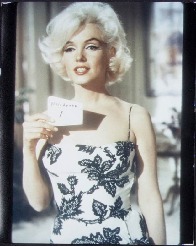 Marilyn Monroe, Whitey Snyder, test shot for Something's Gotta Give, black and white dress