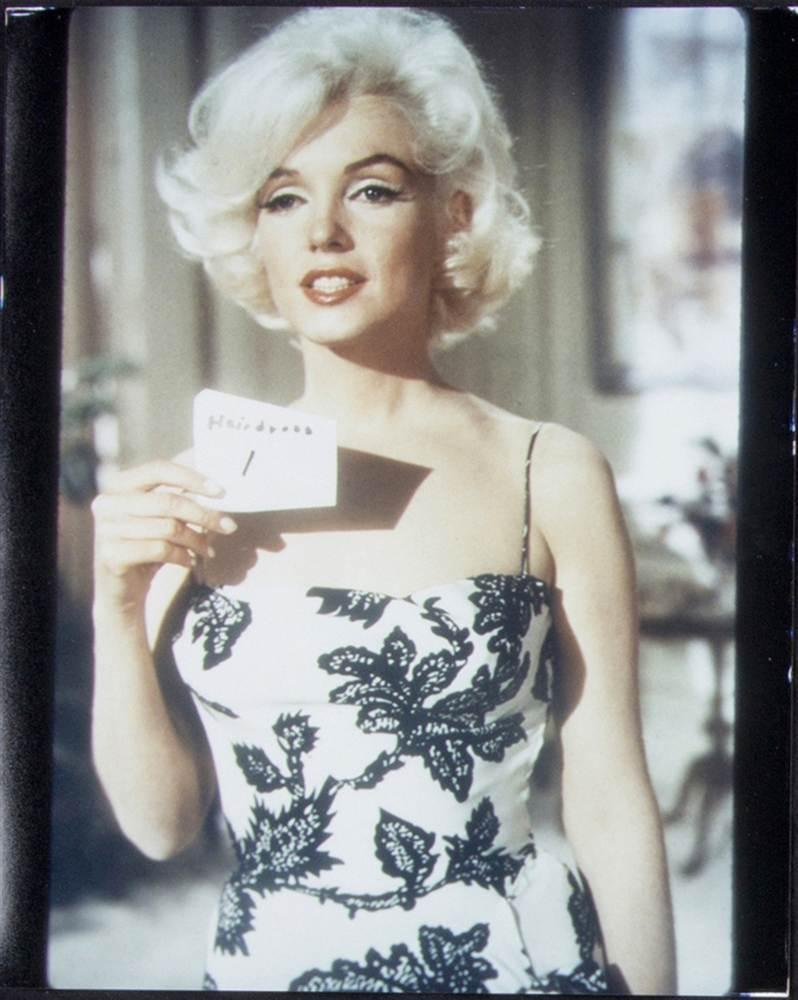 Marilyn Monroe, Whitey Snyder, test shot for Something's Gotta Give, black and white dress