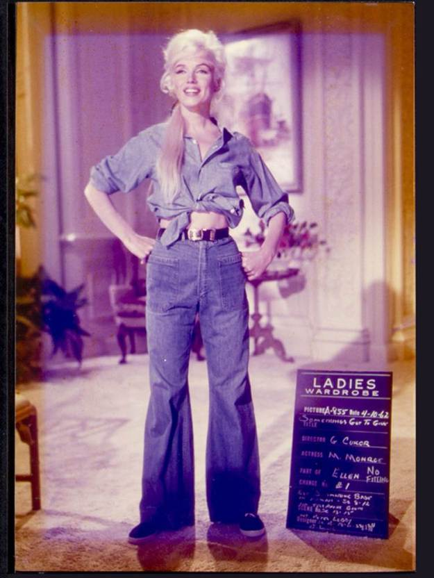 Marilyn Monroe, Whitey Snyder, Something's Gotta Give, denim outfit