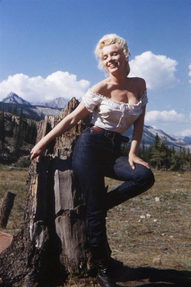 Marilyn Monroe, Whitey Snyder, River of No Return, Jeans