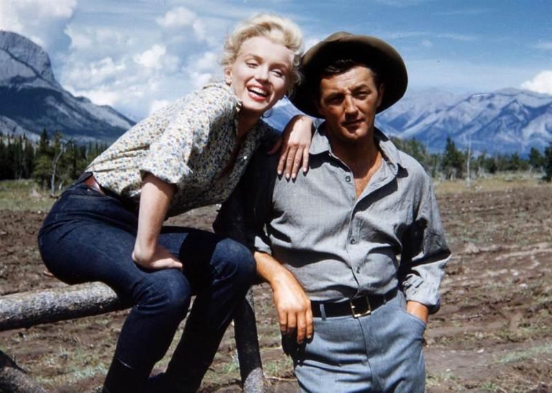 Marilyn Monroe, Robert Mitchum, Whitey Snyder, River of No Return