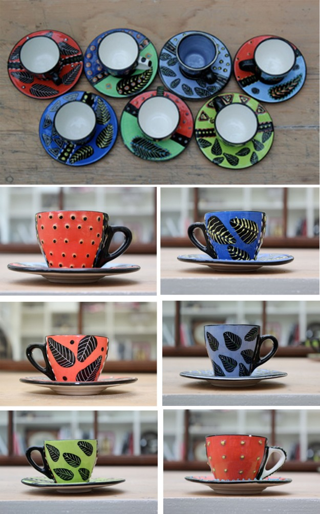 South African Teacups, design