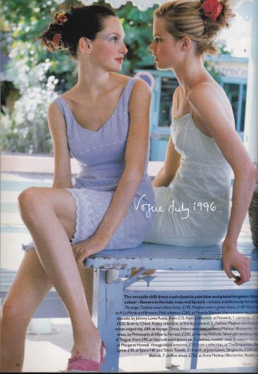 Tocca dresses, Vogue July 1996