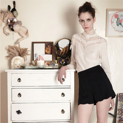 Tocca Fashion, Autumn Winter 2011, Cream victoriana shirt