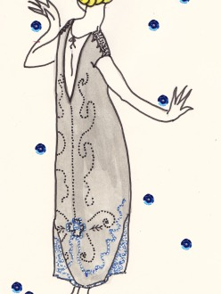 Weimar Republic cabaret, Herr Kettners, 1920s black lace flapper dress, burlesque