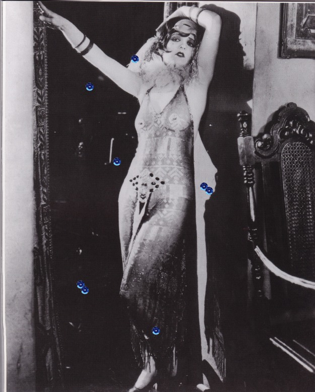 Clara Bow, lace flapper dress, burlesque, My Lady of Whims