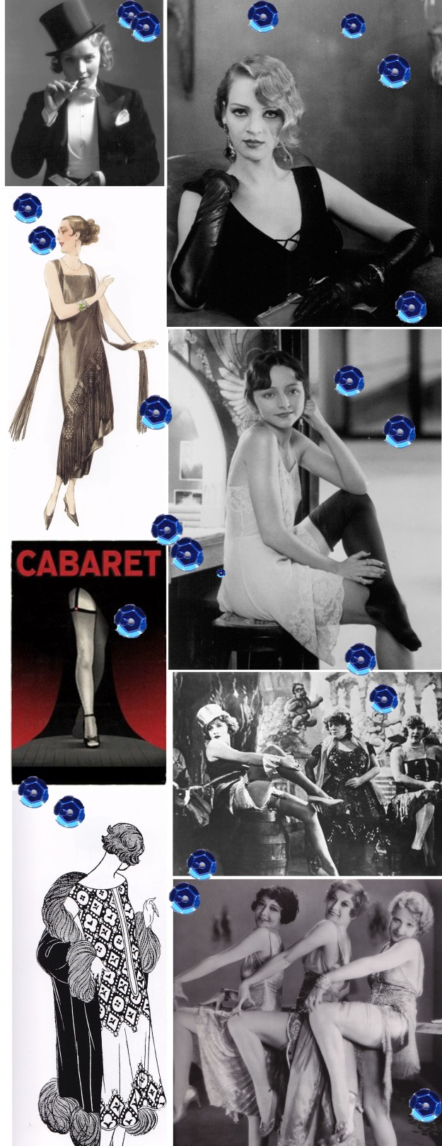 Marlene Dietrich top hat, Uma Thurman, Henry and June, Cabaret illustration, Joan Crawford, 1920s fashion illustration