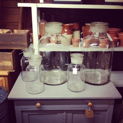 Huge vintage glass Jars