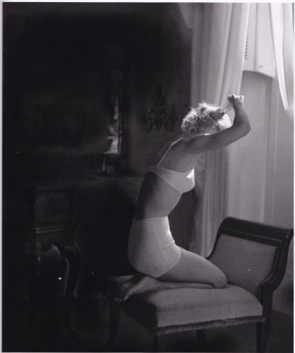 Lillian Bassman, bra and pants, lady doing hair