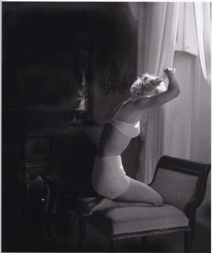 Lillian Bassman, bra and pants, lady doing hair