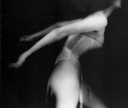 Lillian Bassman, Carmen Dell'Orefice, white basque