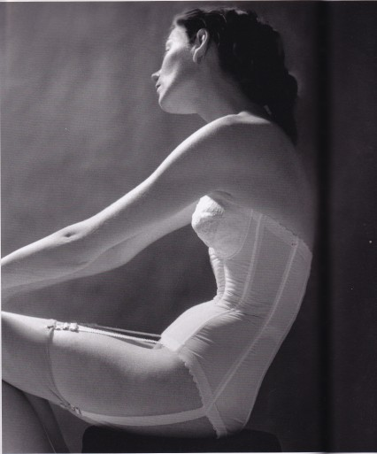 Lillian Bassman, white basque, Lingerie