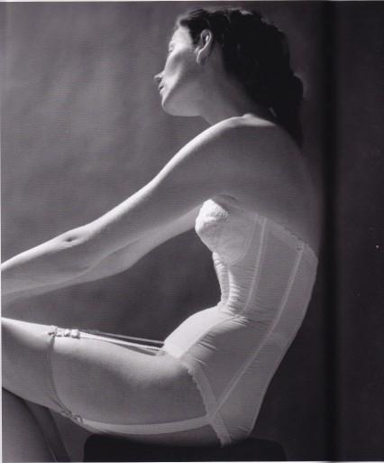 Lillian Bassman, white basque, Lingerie
