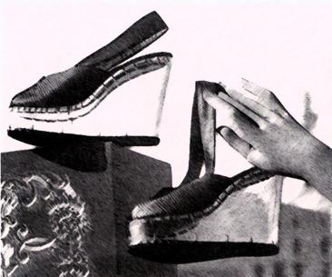 1940's perspex wedges