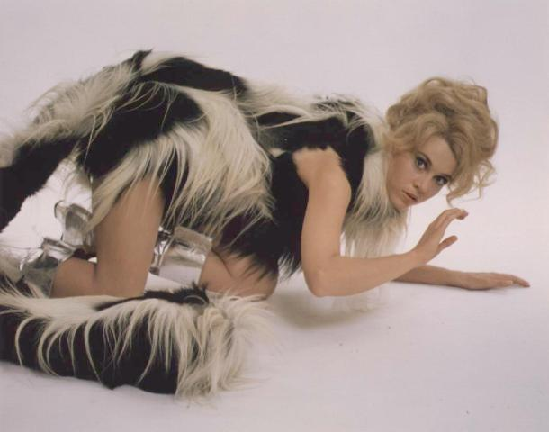 Perspex boots, Barbarella, Jane Fonda