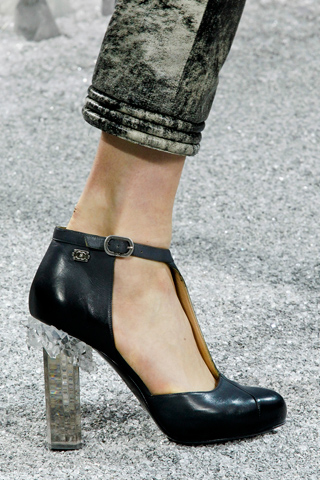 Perspex heels, Chanel, Fall 2012