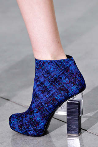 Perspex heeled boots, Erdem, Fall 2012