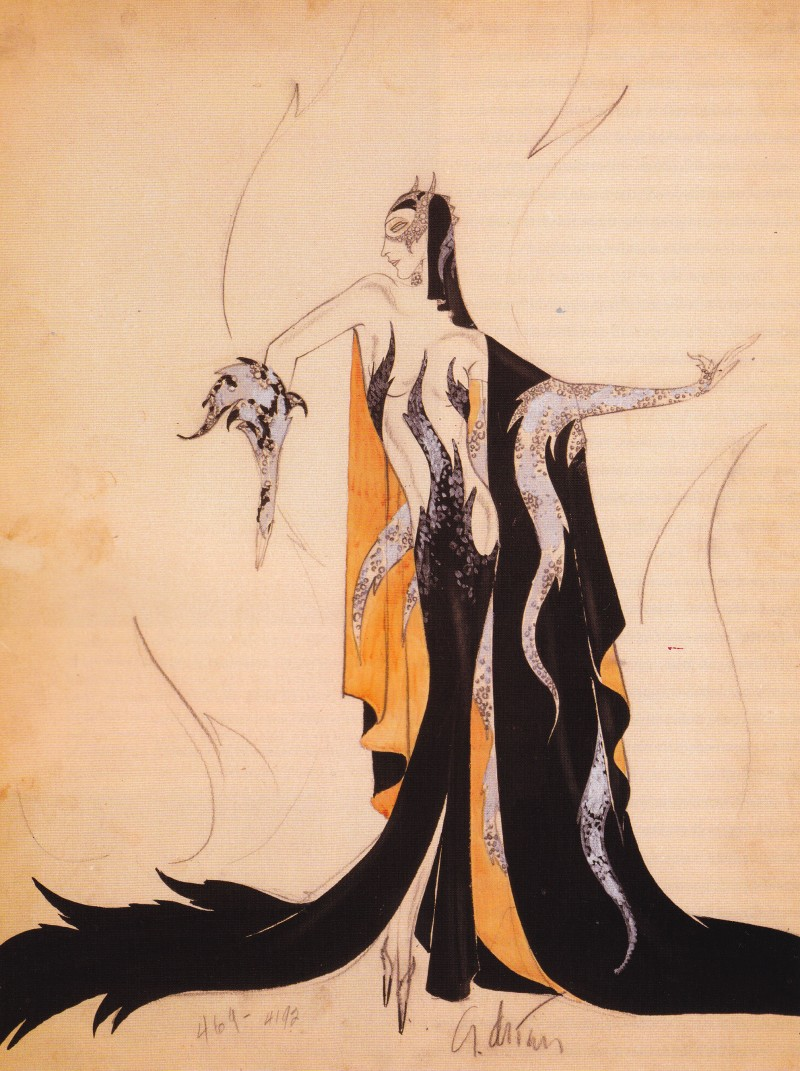 Madam Satan, Adrian, Fashion Illustration, 1930, Dressed by Deborah Nadoolman Landis
