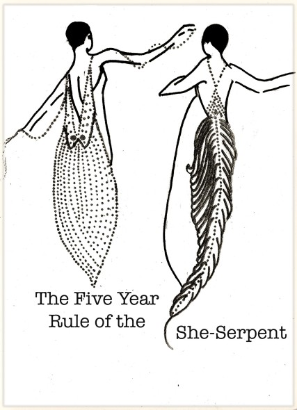The Five Year Rule of the She-Serpent, Carolyn Everitt, Erte