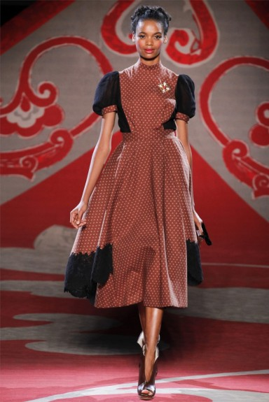 Ulyana Sergeenko, Fall 2012, red print dress