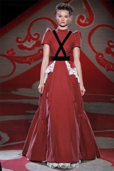 Ulyana Sergeenko, Fall 2012, red print dress