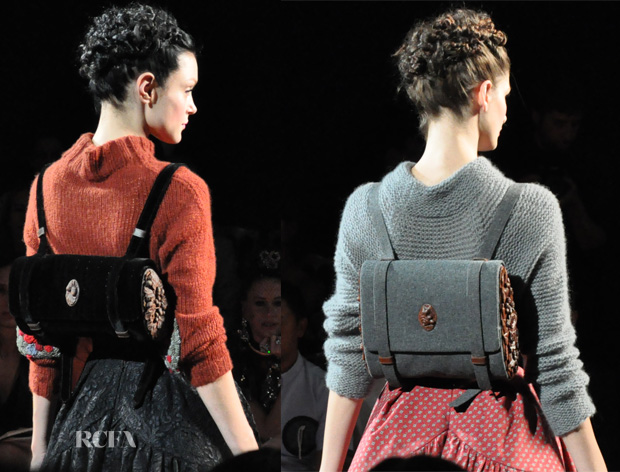 Ulyana Sergeenko, Fall 2012, satchel backpacks