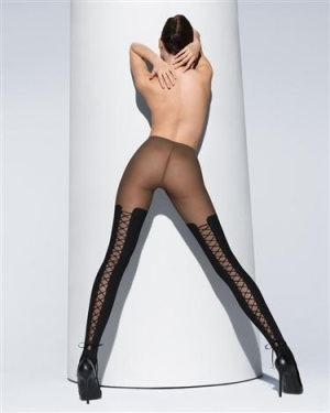 Wolford Lace Up tights