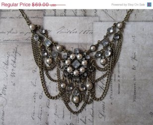 Bib , Etsy necklace, bordello necklace