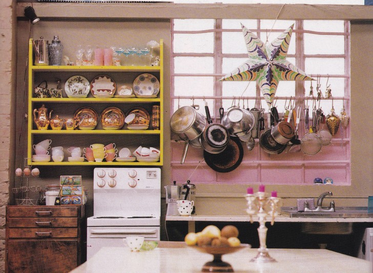 Kitsch Kitchen Gary Hume Industrial Living Pink