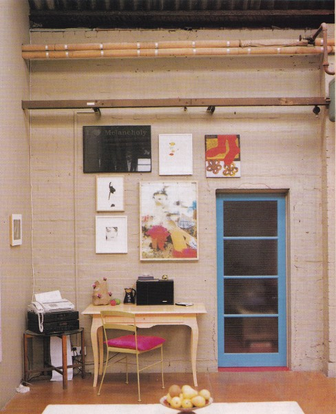 Kitsch, Gary Hume, Pink industrial interior