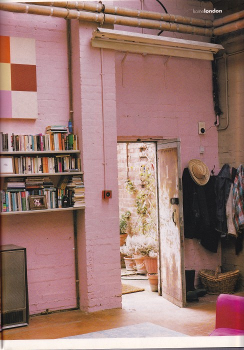 Industrial interior, pink, Gary Hume