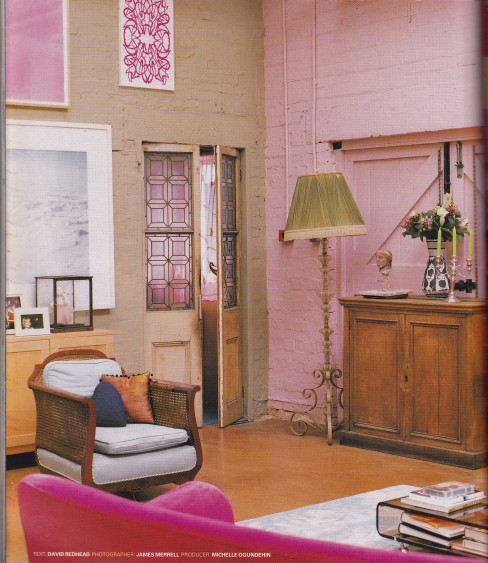 Warehouse, pink, industrial interior, Gary Hume