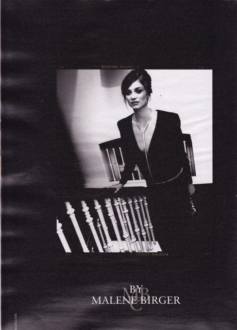 By Malene Birger, Autumn Winter Campaign 2012, black and white photography