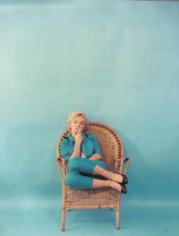 Marilyn Monroe, Turquoise pantsuit, Milton Greene