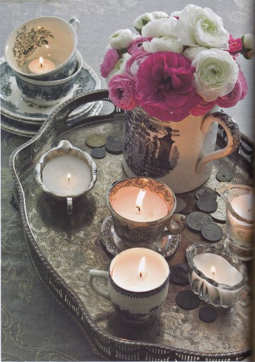 Rediscovered Treasures, Tea Cup Candles