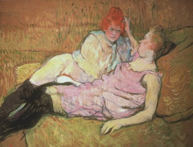 Toulouse Lautrec, Maison Close, two ladies in stockings